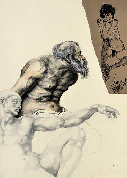 Smëms, Planche d'étude Michel-Ange, Rubens, Schiele et Van Gogh, sommaie de la galerie Études