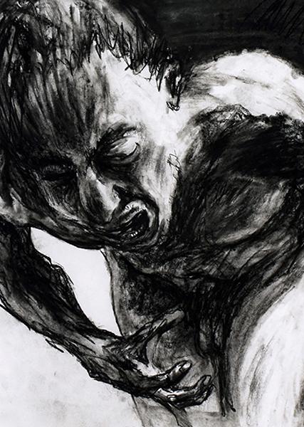 Gouniet, Autoportrait noir et blanc, sommaire de la galerie Autofigurations