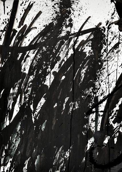 Gouniet, Abstraction gestuelle noir et blanc, sommaire de la série Défouloirs