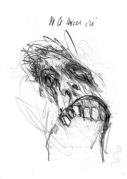 Gouniet, Figure décomposée, sommaire de la galerie Extraits de carnets