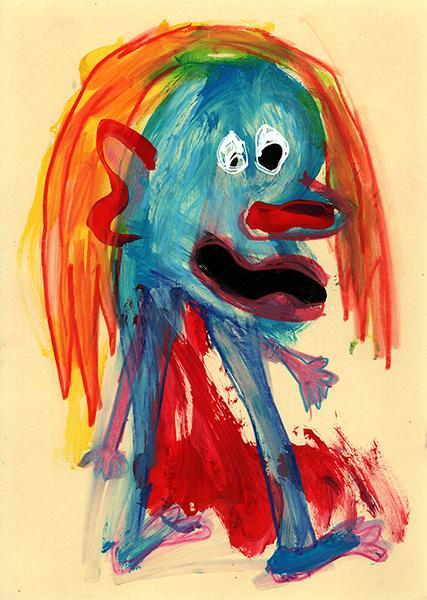 Gro, peinture d'un bonhomme, sommaire de la série Céfidi Cébafot