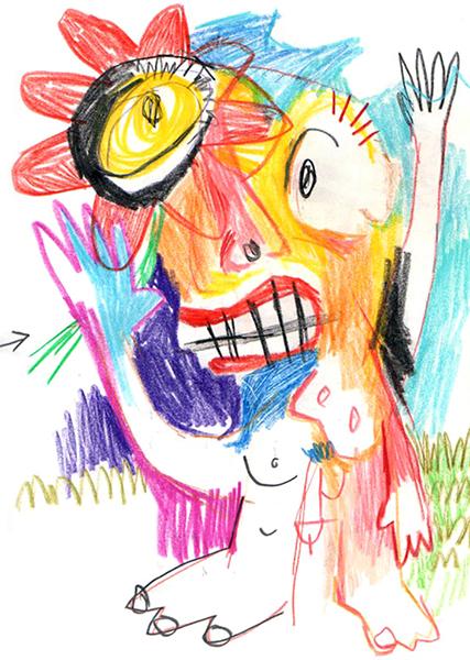Gro, Dessin d'un bonhomme, sommaire de la galerie Extraits de carnets