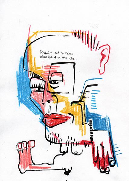 Gro, Bonhomme inspiré par Basquiat, sommaire de la série Grosquiat
