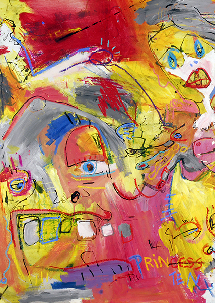 Gro, Peinture colorée quasi abstrait, sommaire de la série Pint Pintur Printen