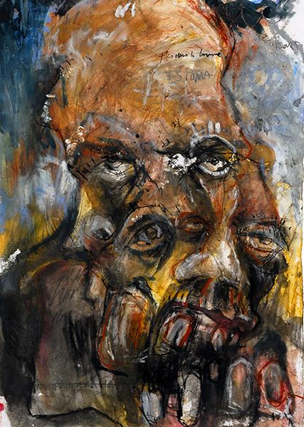 SGG, Superposition de visages monstrueux, sommaire de la galerie Démultiplication des abrutis
