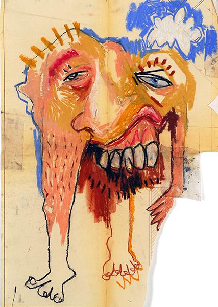 SGG, Personnage avec grandes dents, sommaire de la galerie Tendances opposées