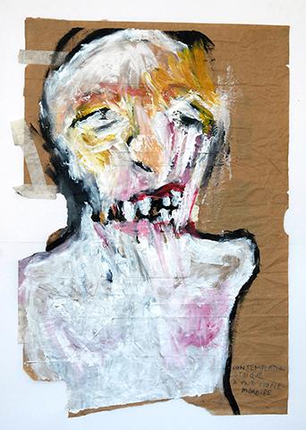 Profil de SGG, peinture d'une figure d'introduction de la Galerie de Portraits