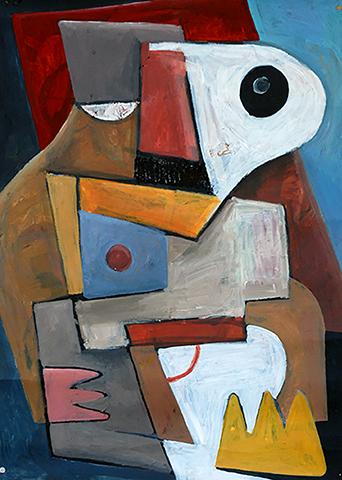 Profil de W.Alter, Figure cubiste d'introduction de la Galerie de Portraits